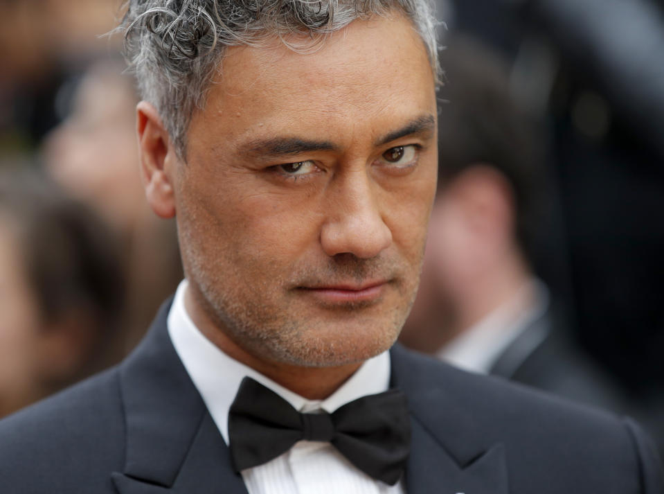 Taika Waititi arrives at the Oscars on Sunday, Feb. 9, 2020, at the Dolby Theatre in Los Angeles. (AP Photo/John Locher)