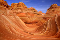 """<b>The Wave in Utah</b> - Carved rock eroded into a wave-like formation made of jurrasic-age Navajo sandstone that is approximately 190 million years old. (Steffen and Alexandra Sailer/Ardea/Caters News) <br> (<a href=""""http://bit.ly/extraordinary-world-phenomena-flickr"""" rel=""""nofollow noopener"""" target=""""_blank"""" data-ylk=""""slk:More photos of natural phenomena on Flickr"""" class=""""link rapid-noclick-resp"""">More photos of natural phenomena on Flickr</a>)"""