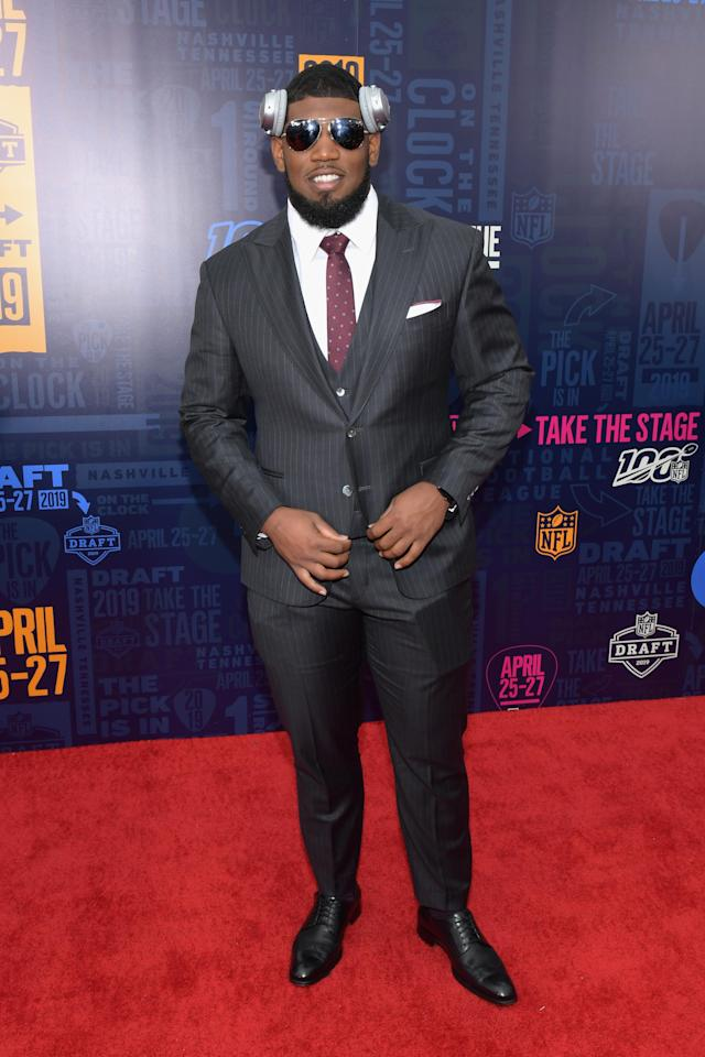 Football player Ed Oliver attends the 2019 NFL Draft on April 25, 2019 in Nashville, Tennessee. (Photo by Jason Kempin/Getty Images)