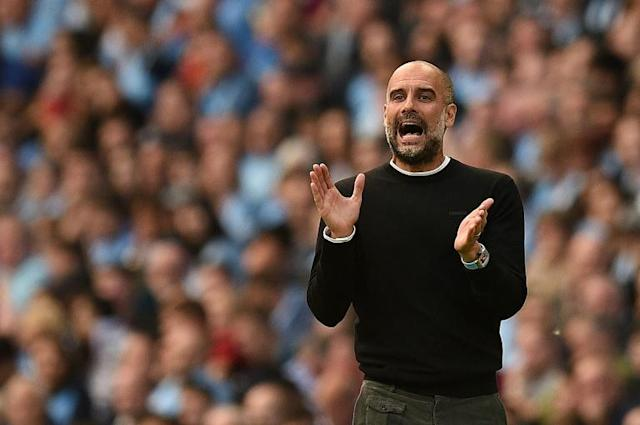 Pep's impressed: Manchester City manager Pep Guardiola described his side's performance against Tottenham as the best since he took charge of the club (AFP Photo/Oli SCARFF )
