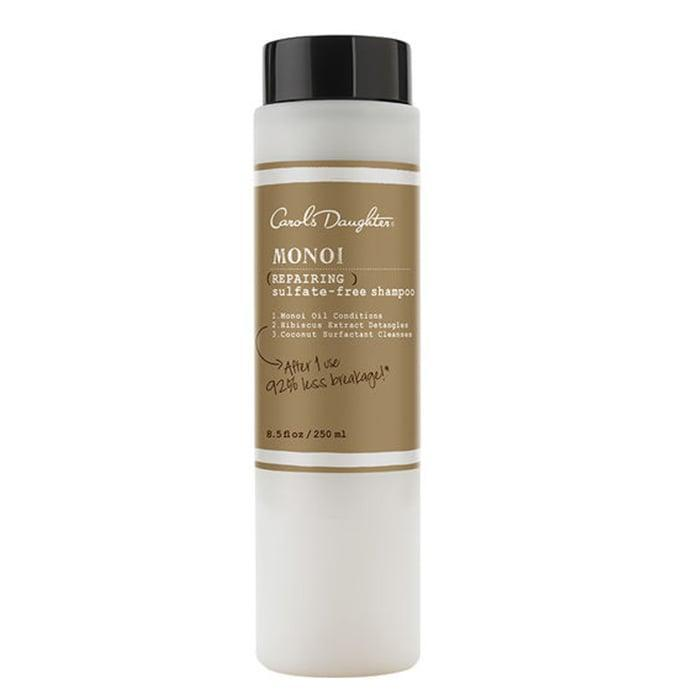 <p>The beloved <span>Carol's Daughter Monoi Repairing Sulfate-Free Shampoo</span> ($20) is made with moisturizing monoi oil and coconut-derived cleansers (and without sulfates) to restore distressed hair and help prevent future damage. The product also promises 98 percent less breakage, and appears to deliver - reviewers on the brand's site have reported less shedding after use.</p>