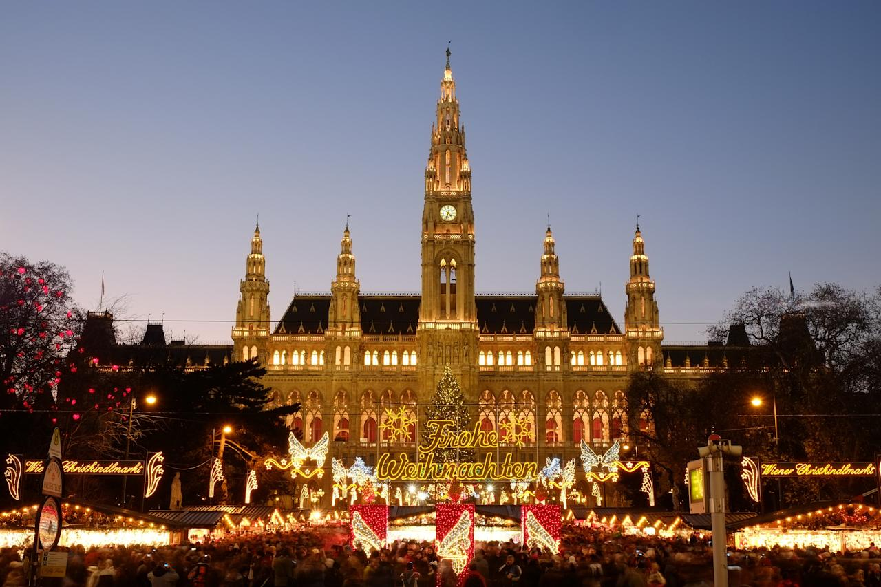 "<p><span><strong>November 12 – December 24.</strong> </span><span>Come Christmastime, the pretty squares of <a rel=""nofollow"" href=""http://www.vienna.info"">Austria's</a> capital are transformed by around ten markets, complete with 150 stalls selling everything from miniature wooden houses to leather clothing and woollen hats. EasyJet flies to Vienna from £33 return. [Photo: Flickr / </span><a rel=""nofollow"" href=""https://www.flickr.com/photos/zlakfoto/""><span>Gabriel Hess</span></a><span>]</span> </p>"