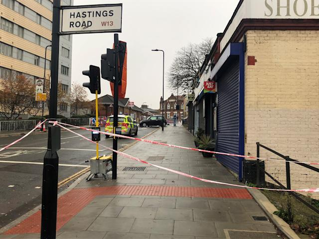 Police said the West Ealing victim was stabbed before crashing the car. (PA)