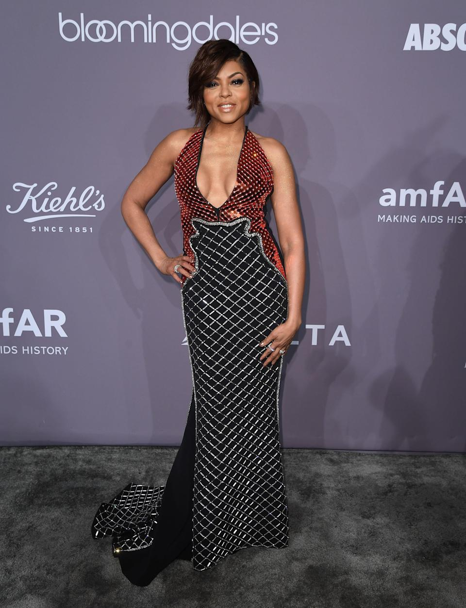 <p>The American actress wore a slinky number by London Fashion Week designer David Koma. <em>[Photo: Getty]</em> </p>