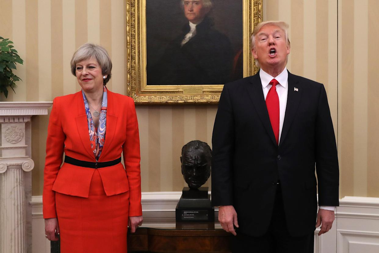 UK prime minister Theresa May and US President Donald Trump have promoted the prospect of a new bilateral free trade deal. Photo: Christopher Furlong/Getty Images