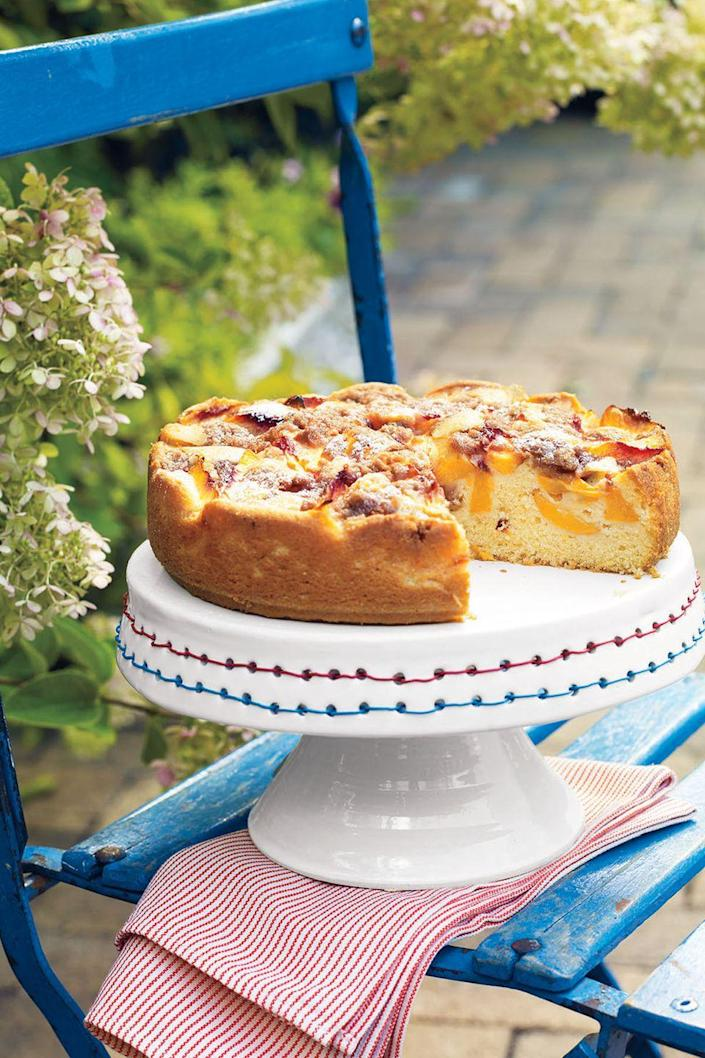 """<p>Make use of summer's best fruit by making this dessert topped with a cinnamon and brown sugar crumble. </p><p><u><em><strong><a href=""""https://www.womansday.com/food-recipes/food-drinks/recipes/a11333/peach-cake-recipe-122676/"""" rel=""""nofollow noopener"""" target=""""_blank"""" data-ylk=""""slk:Get the recipe for Peach Cake"""" class=""""link rapid-noclick-resp"""">Get the recipe for Peach Cake</a>.</strong></em></u><br></p><p>__________________________________________________________</p><p><em>Want more recipes? You're in luck! <a href=""""https://subscribe.hearstmags.com/subscribe/womansday/253396?source=wdy_edit_article"""" rel=""""nofollow noopener"""" target=""""_blank"""" data-ylk=""""slk:Subscribe to Woman's Day"""" class=""""link rapid-noclick-resp"""">Subscribe to Woman's Day</a> today and get <strong>73% off your first 12 issues</strong>. And while you're at it, <a href=""""https://subscribe.hearstmags.com/circulation/shared/email/newsletters/signup/wdy-su01.html"""" rel=""""nofollow noopener"""" target=""""_blank"""" data-ylk=""""slk:sign up for our FREE newsletter"""" class=""""link rapid-noclick-resp"""">sign up for our FREE newsletter</a> for even more of the Woman's Day content you want.</em></p>"""