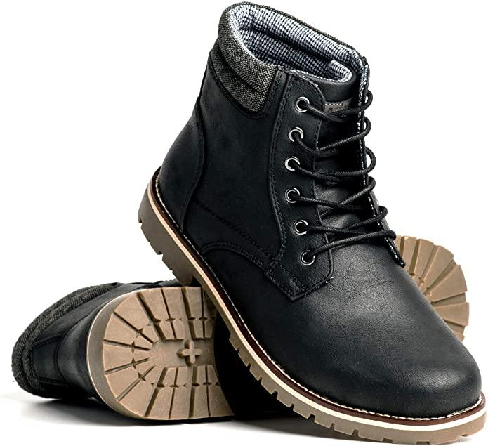Blackwell Mens Colt Vegan Leather Lace Up Boot. Image via Amazon.