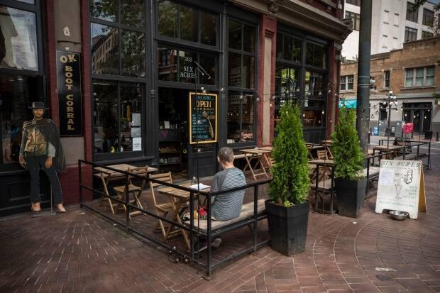 Restaurant in B.C. can only currently offer food service on outdoor patios.  (Ben Nelms/CBC - image credit)