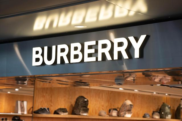 British fashion brand Burberry store in Hong Kong airport. Photo: Geovien So/SOPA Images/LightRocket via Getty Images