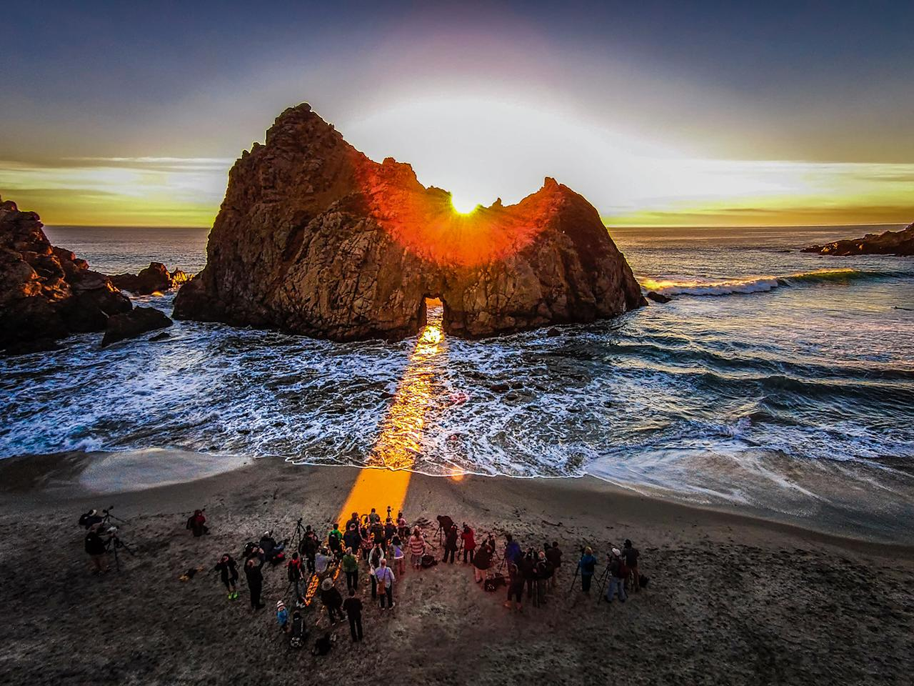 <p>Pfeiffer Beach, Big Sur, Calif., by Romeo Durscher, taken at 492 feet. (Caters News) </p>