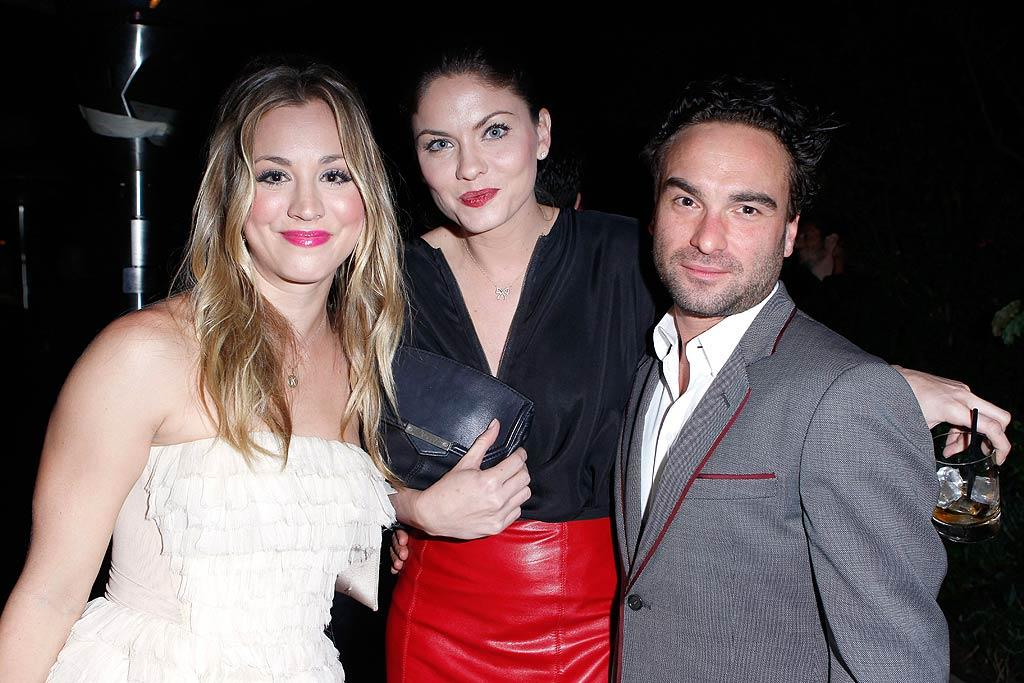 "Newly engaged Kaley Cuoco hung out with ""Two and Half Men"" actress Jodi Lyn O'Keefe and ""Big Bang Theory"" co-star Johnny Galecki. (11/17/2011)"