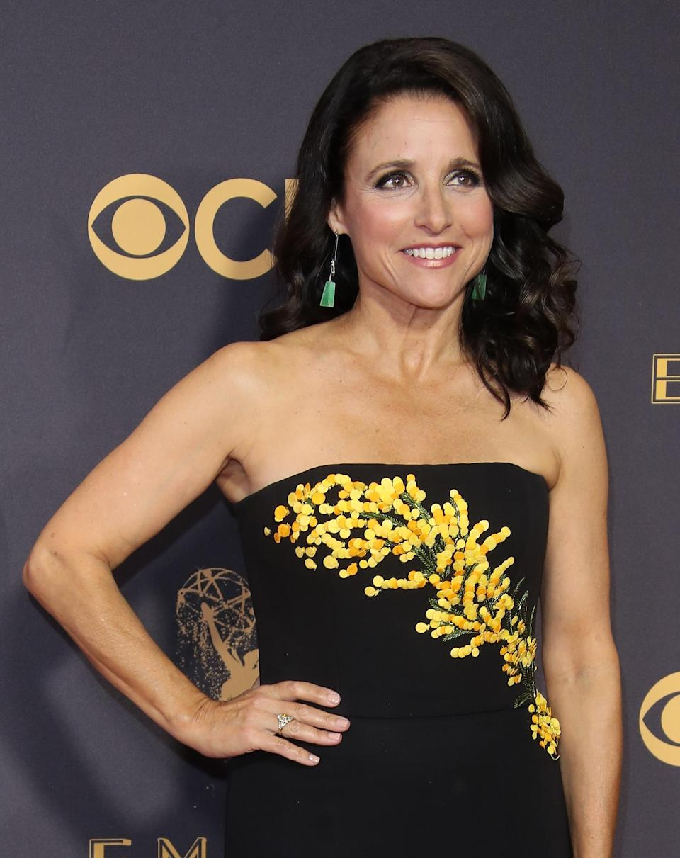 Julia Louis-Dreyfus attends the 2017 Emmys. (Photo: Getty Images)