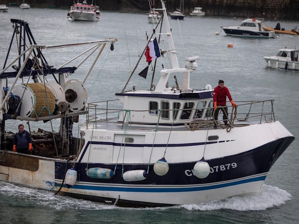 A French fishermen returns from sea after protesting with a fleet of fishing boats in the territorial waters of Jersey (Siegfried Modola/Getty Images)