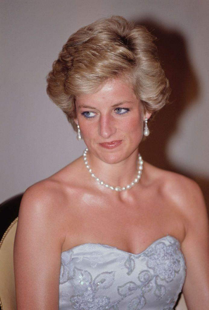 <p>These elegant drop-pearl-and-diamond earrings were a wedding gift from London jeweler Collingwood and were worn by the princess on many occasions, both formal and casual. They have reportedly been worn by Duchess Catherine in recent years as well. </p>