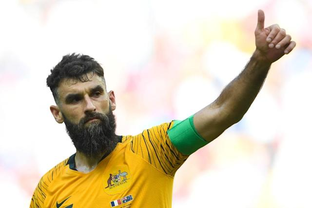 Mile Jedinak says Australia were frustrated at being on the receiving end of the first VAR-assisted penalty in World Cup history (AFP Photo/SAEED KHAN)