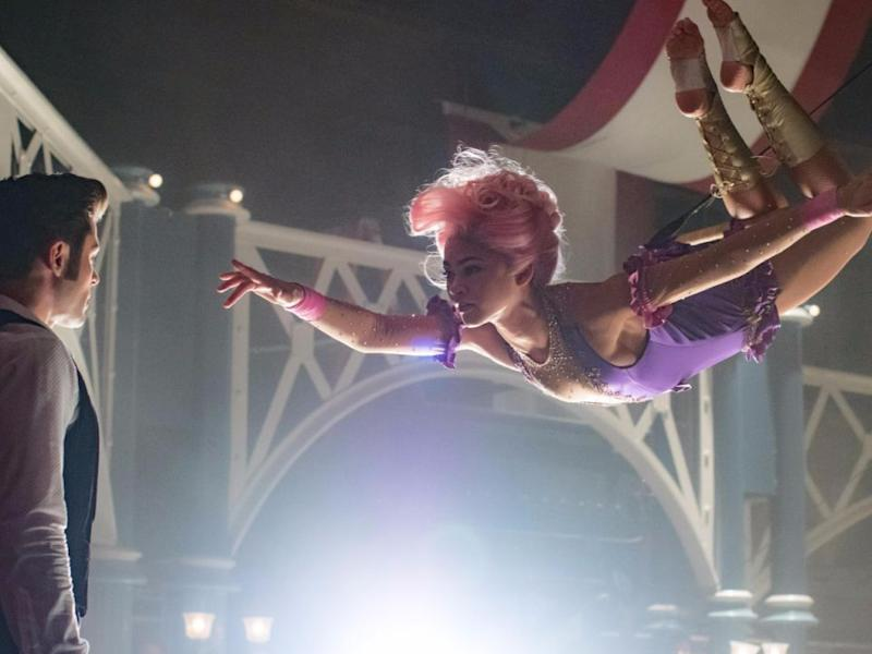 We see heaps of stunts in the trailer for The Greatest Showman. Source: 20th Century Fox