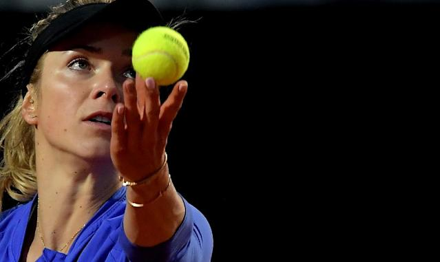 Defending champion Elina Svitolina eased into the third round of the WTA Italian Open on Tuesday (AFP Photo/TIZIANA FABI)