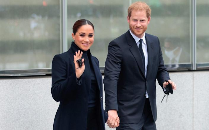 The Duchess of Sussex donned a 'power look' during her New York visit - Shutterstock