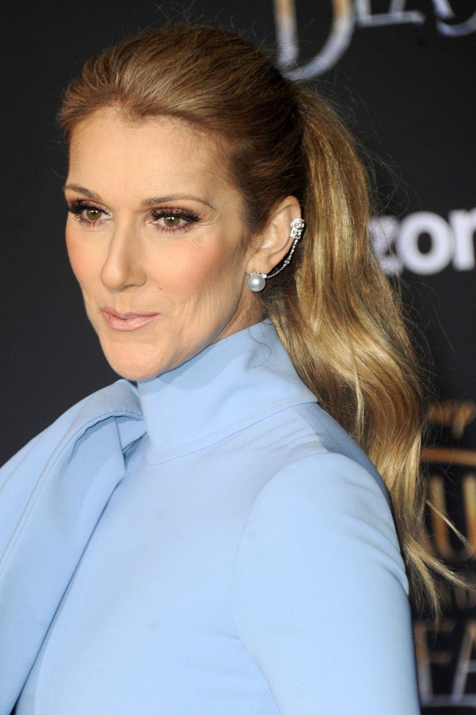 """<p><a href=""""http://www.goodhousekeeping.com/health/diet-nutrition/a44676/what-celine-dion-eats-in-a-day/"""" rel=""""nofollow noopener"""" target=""""_blank"""" data-ylk=""""slk:Celine Dion"""" class=""""link rapid-noclick-resp"""">Celine Dion</a> has favored golden highlights — perhaps to match her golden voice? — for over 20 years.</p>"""