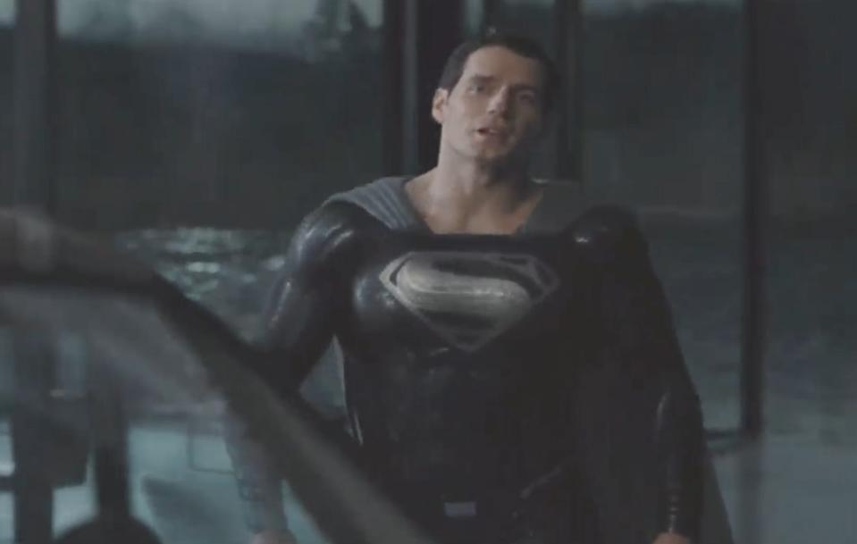 Snyder debuted a clip of Superman in his black suit during Justice Con.