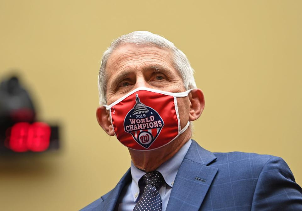 WASHINGTON, DC - JULY 31: Dr. Anthony Fauci, director of the National Institute for Allergy and Infectious Diseases, arrives to testify before the House Subcommittee on the Coronavirus Crisis during a hearing on a national plan to contain the COVID-19 pandemic, on Capitol Hill on July 31, 2020 in Washington, DC.  (Photo by Kevin Dietsch - Pool/Getty Images)