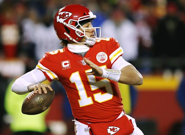 Being aggressive in moving up in the draft worked out brilliantly for the Chiefs in 2017, when they landed Patrick Mahomes. (AP)