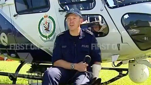 Constable Luke Waburton was shot in his thigh and groin after a