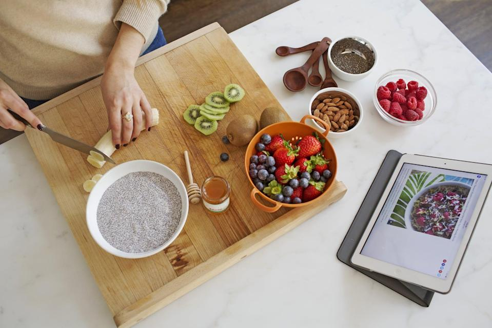 """<p>Whether you're sending them a healthy meal plan with the <span>PlateJoy one-year subscription</span> ($89), getting them a subscription service to delivered groceries with <span>Blue Apron</span>, or even gifting pre-made meals like <a href=""""https://www.thistle.co/gifts/purchase"""" class=""""link rapid-noclick-resp"""" rel=""""nofollow noopener"""" target=""""_blank"""" data-ylk=""""slk:Thistle"""">Thistle</a> or soup programs like <span>Splendid Spoon</span> - whoever receives this gift will be glowing from the inside out, thanks to their new healthy eating regime.</p>"""