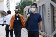 Pro-democracy activist Wong arrives at West Kowloon Courts in Hong Kong
