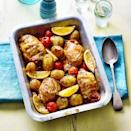 """<p>This may not be the quickest midweek recipe, but it is one of the easiest – the oven does all the work for you, so you can get on with other things.</p><p><strong>Recipe: <a href=""""https://www.goodhousekeeping.com/uk/food/recipes/a35279179/smoky-paprika-chicken-traybake/"""" rel=""""nofollow noopener"""" target=""""_blank"""" data-ylk=""""slk:Smoky Paprika Chicken Traybake"""" class=""""link rapid-noclick-resp"""">Smoky Paprika Chicken Traybake</a></strong></p>"""