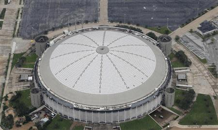 An aerial view shows the Houston Astrodome