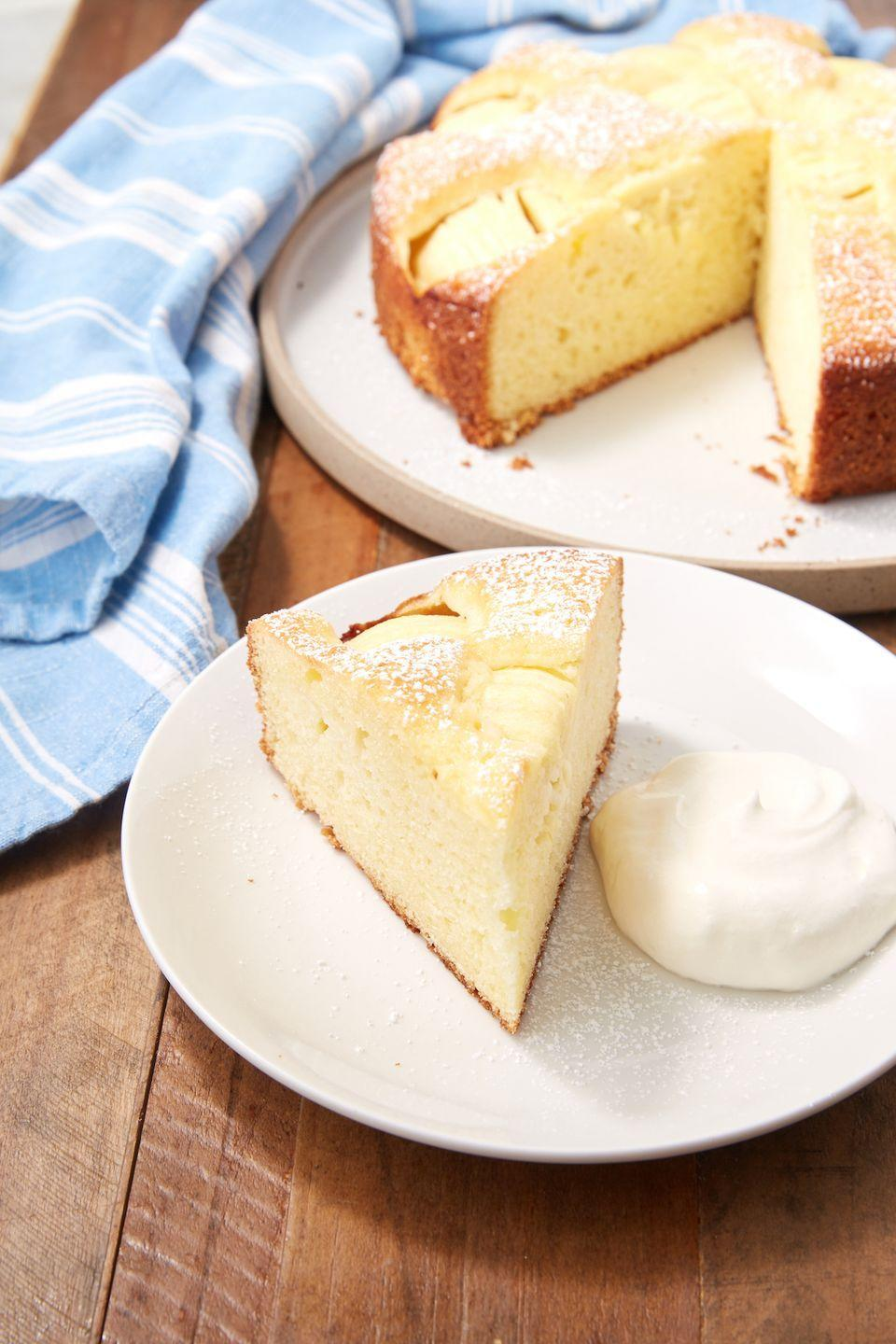 """<p>An apple cake a day...</p><p>Get the recipe from <a href=""""https://www.delish.com/cooking/recipe-ideas/a28186265/german-apple-cake-recipe/"""" rel=""""nofollow noopener"""" target=""""_blank"""" data-ylk=""""slk:Delish"""" class=""""link rapid-noclick-resp"""">Delish</a>.</p>"""