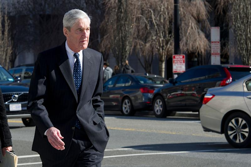Special counsel Robert Mueller attends church across from the White House on March 24, 2019.