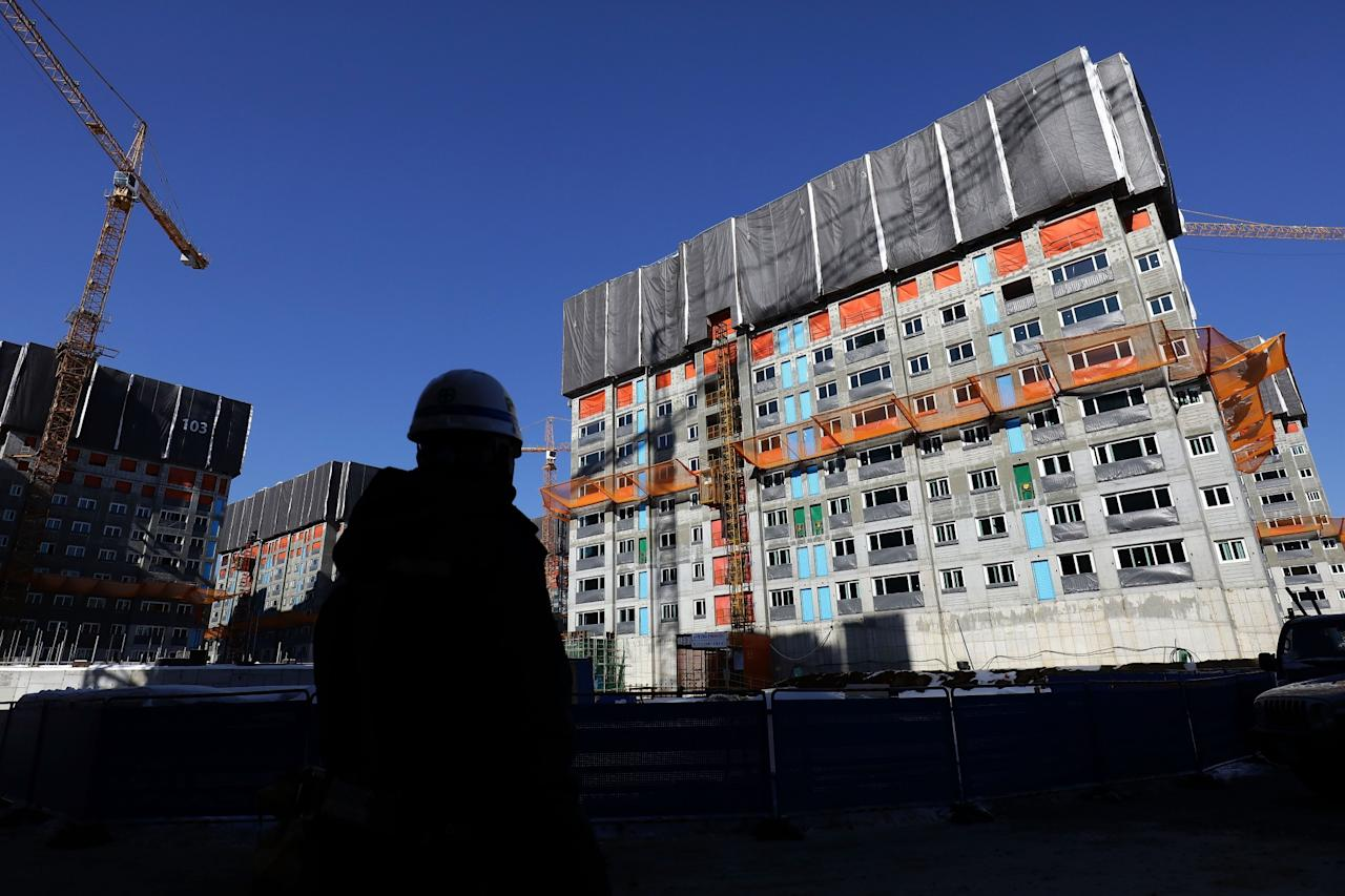 <p>The general view of Olympic village – Athlete villge ahead of PyeongChang 2018 Winter Olympic Games on February 2, 2017 in Pyeongchang-gun, South Korea. (Photo by Chung Sung-Jun/Getty Images) </p>
