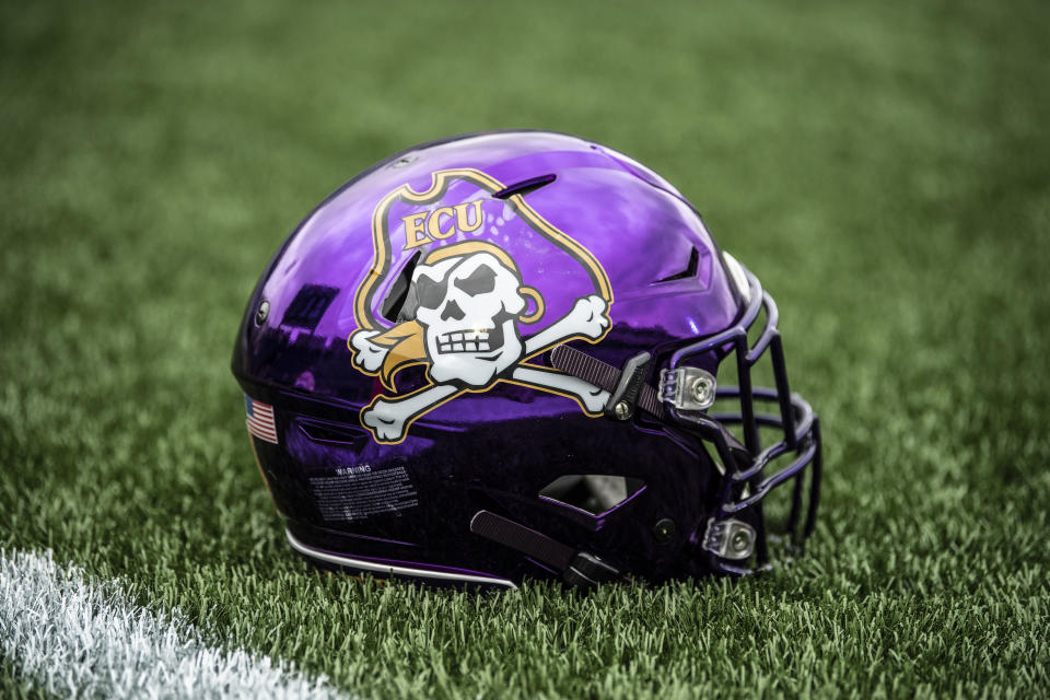 East Carolina paused all football activities due to a cluster of positive COVID-19 tests. (Photo by Benjamin Solomon/Getty Images)