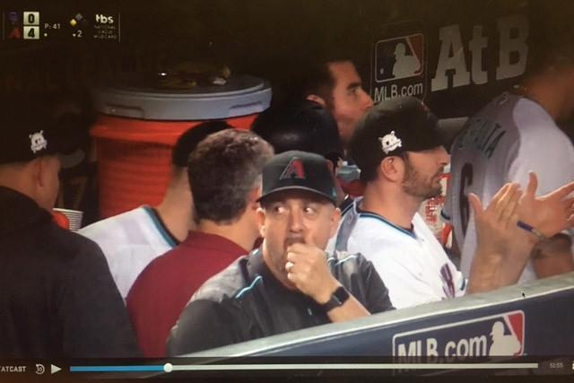 Ariel Prieto appears to be wearing an electronic watch. (Screen cap via Joel Sherman)