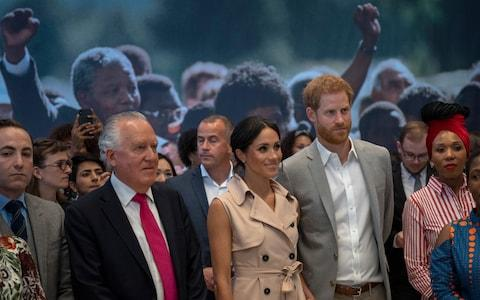 Lord Hain with the Duke and Duchess of Sussex - Credit: Newsgroup UK/Arthur Edwards