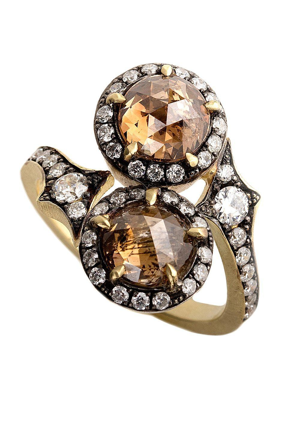 "<p><strong><em>Sylva & Cie</em></strong><em> 18-Karat Yellow Gold & Silver Champagne Diamond Ring, price upon request, <a href=""https://shop.mitchellstores.com/products/981609-sylva-and-cie-rings"" rel=""nofollow noopener"" target=""_blank"" data-ylk=""slk:shop.mitchellstores.com"" class=""link rapid-noclick-resp"">shop.mitchellstores.com</a></em></p><p><a class=""link rapid-noclick-resp"" href=""https://shop.mitchellstores.com/products/981609-sylva-and-cie-rings"" rel=""nofollow noopener"" target=""_blank"" data-ylk=""slk:SHOP"">SHOP</a></p>"