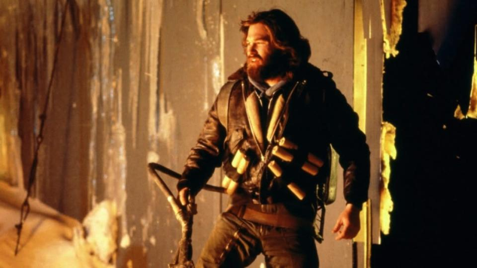 <p> John Carpenter's ultimate creature feature. The title might be hokey, but The Thing remains one of the most gloriously splattery and tense horrors of all time. A group of Americans – including Kurt Russell's R.J MacReady – are stationed at an Antarctic research facility and take on an alien<em> thing</em> that infects blood. </p> <p> There's intense paranoia as the party begins to fall apart as the infection spreads, but it's the very real, oh-so-touchable nature of the nasties at work here that's so disturbing. The practical effects – the responsibility of a young Rob Bottin and uncredited Stan Winston – are the true stars as arms are eaten by chests, decapitated heads sprout legs, and bodies are elongated and stretched. The macabre vision of these murderous monsters at work is never anything less than true nightmare fuel. </p>
