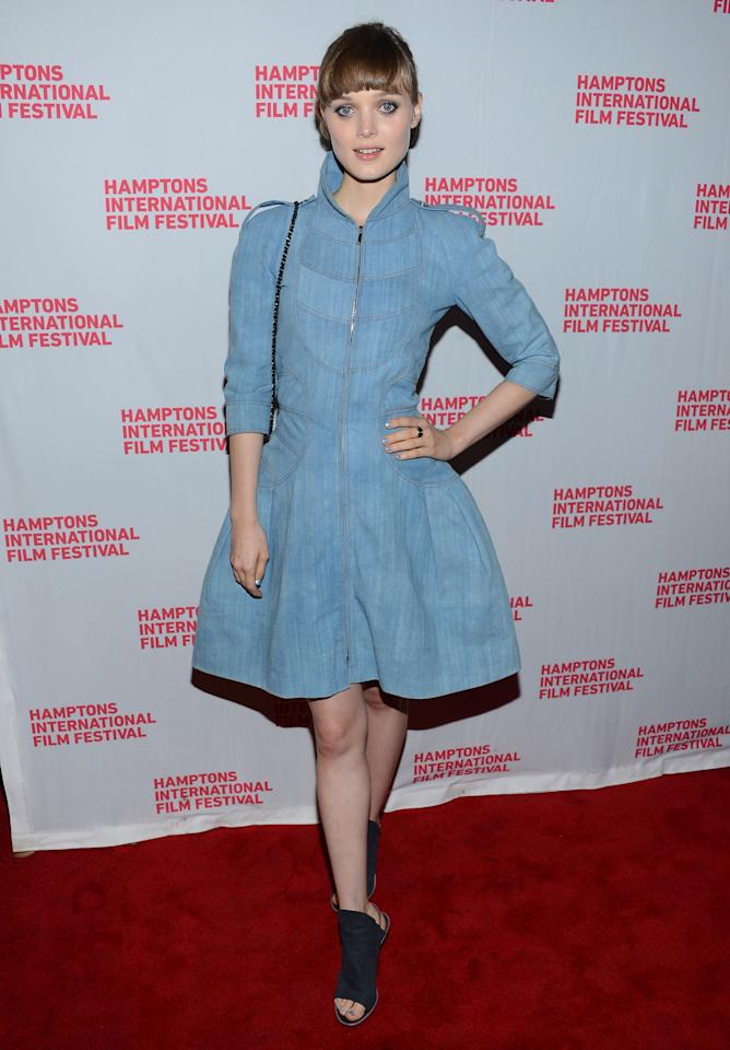 "EAST HAMPTON, NY - OCTOBER 07:  Actress Bella Heathcote attends the closing night screening of ""Not Fade Away"" during the 20th Hamptons International Film Festival at Guild Hall on October 7, 2012 in East Hampton, New York.  (Photo by Jason Kempin/Getty Images)"