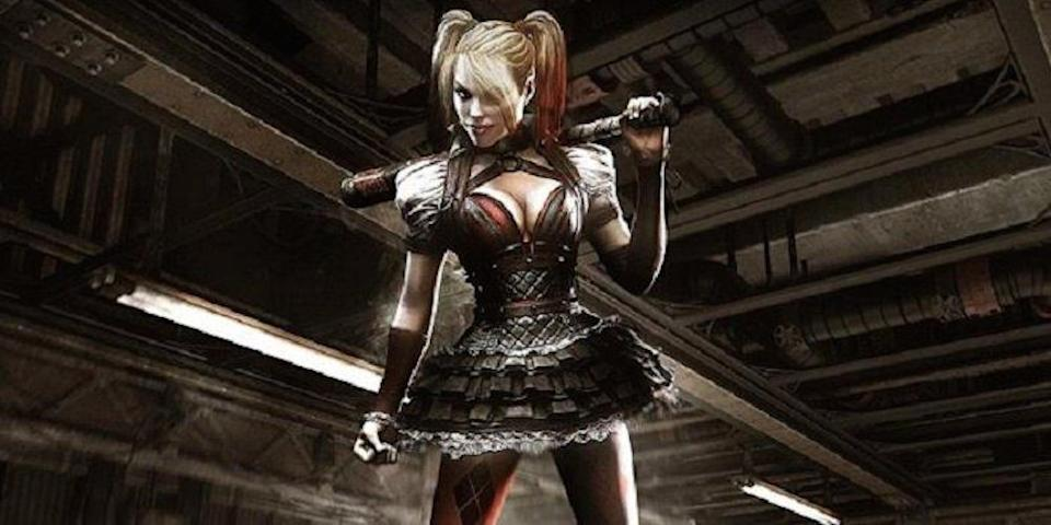<p>The most recent installment in the video-game series features a bat-wielding bombshell version of Harley, not dissimilar to Robbie's.<i> (Image: Rocksteady/Warner Bros. Interactive)</i></p>