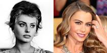 <p>Both in looks and personas, Sofia Vergara is Sophia Loren's modern day counterpart. Given their sultry looks, it's no surprise the two women became sexy screen sirens. </p>