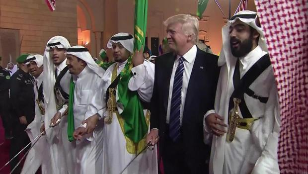 President Donald Trump joins in a ceremonial sword dance in Riyadh, Saudi Arabia, May 20, 2017.  / Credit: CBS News