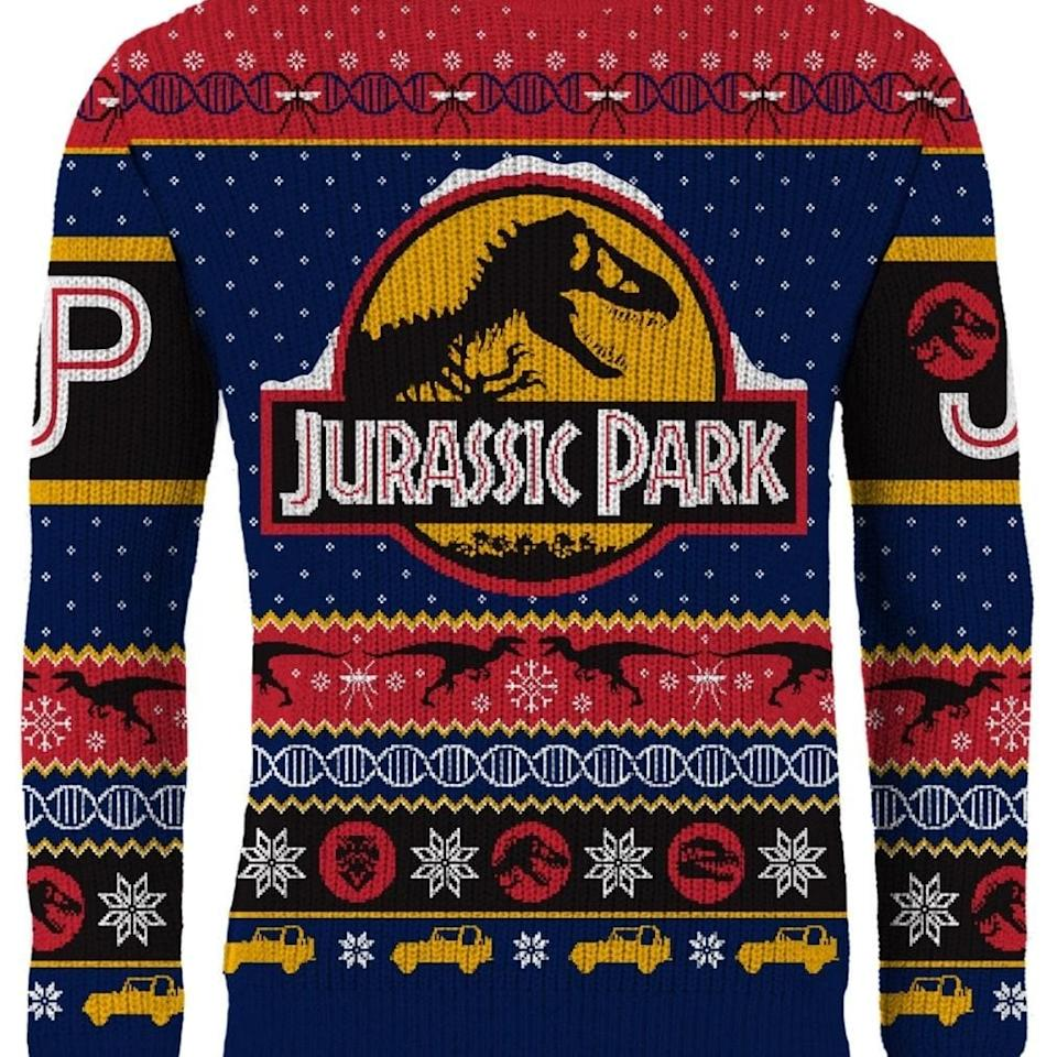 Jurassic Park: Christmas Uh...Finds A Way Knitted Christmas Jumper