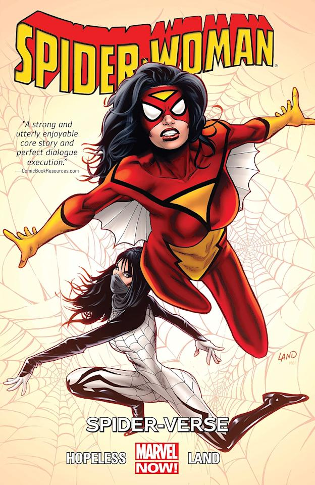 "<p>The most likely candidate is the original Spider-Woman, Jessica Drew. An assassin turned private investigator, Jessica received her powers after being injected with a spider serum to save her life. These powers include super-strength, wall-crawling, and venom blasts. Jessica's version of Spider-Woman has been around since the '70s, even having an animated TV show. She's slated to appear in the female-centric <a href=""https://www.vanityfair.com/hollywood/2018/12/sony-spider-man-future-amy-pascal-phil-lord-interview"" target=""_blank"" class=""ga-track"" data-ga-category=""Related"" data-ga-label=""https://www.vanityfair.com/hollywood/2018/12/sony-spider-man-future-amy-pascal-phil-lord-interview"" data-ga-action=""In-Line Links""><strong>Spider-Man: Into the Spider-Verse</strong> spin-off</a>.</p>"
