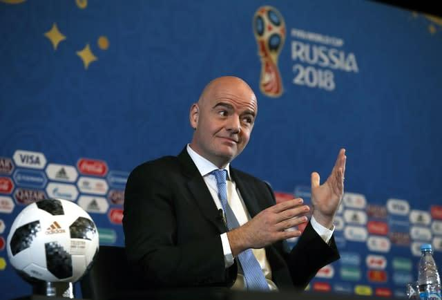 FIFA President Gianni Infantino has written an open letter to the governing body's members (Nick Potts/PA)