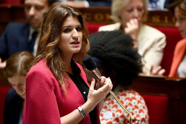 PHOTO: French Junior Minister for Gender Equality Marlene Schiappa speaks during a session of the French National Assembly in Paris, July 9, 2019. (Martin Bureau/AFP/Getty Images, FILE)