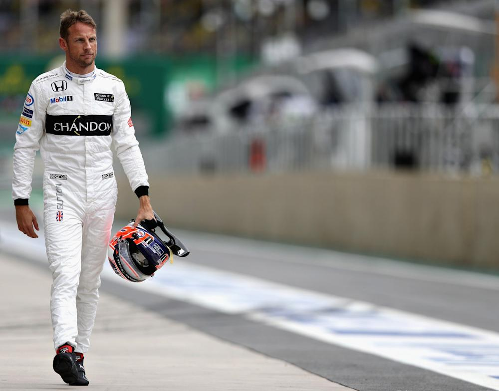 SAO PAULO, BRAZIL - NOVEMBER 12: Jenson Button of Great Britain and McLaren Honda walks in the Pitlane during qualifying for the Formula One Grand Prix of Brazil at Autodromo Jose Carlos Pace on November 12, 2016 in Sao Paulo, Brazil. (Photo by Mark Thompson/Getty Images) - Credit: Mark Thompson/Getty