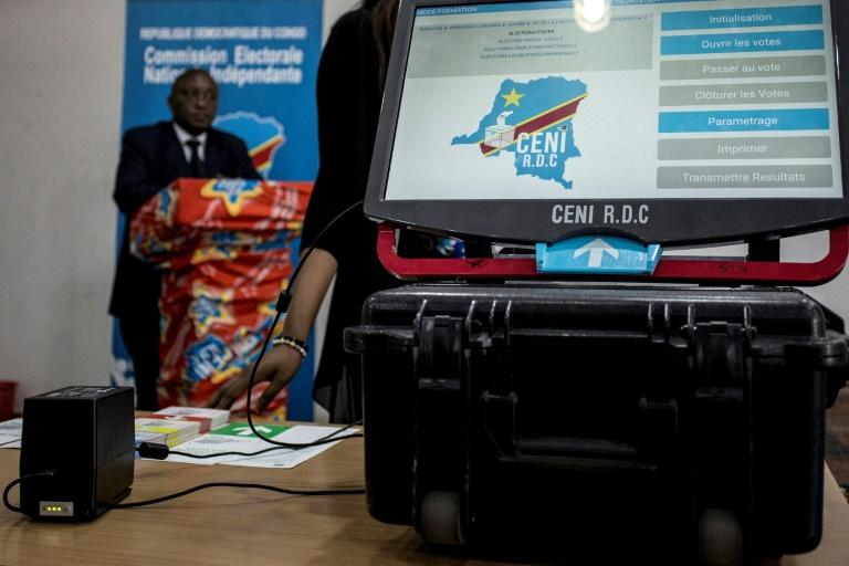 DRC election commission officials in January showed off a touch-screen voting machine which they said would resolve technical problems for tallying the Dec. 23 ballot. Critics say the machines are vulnerable to breakdowns, power cuts and hacking