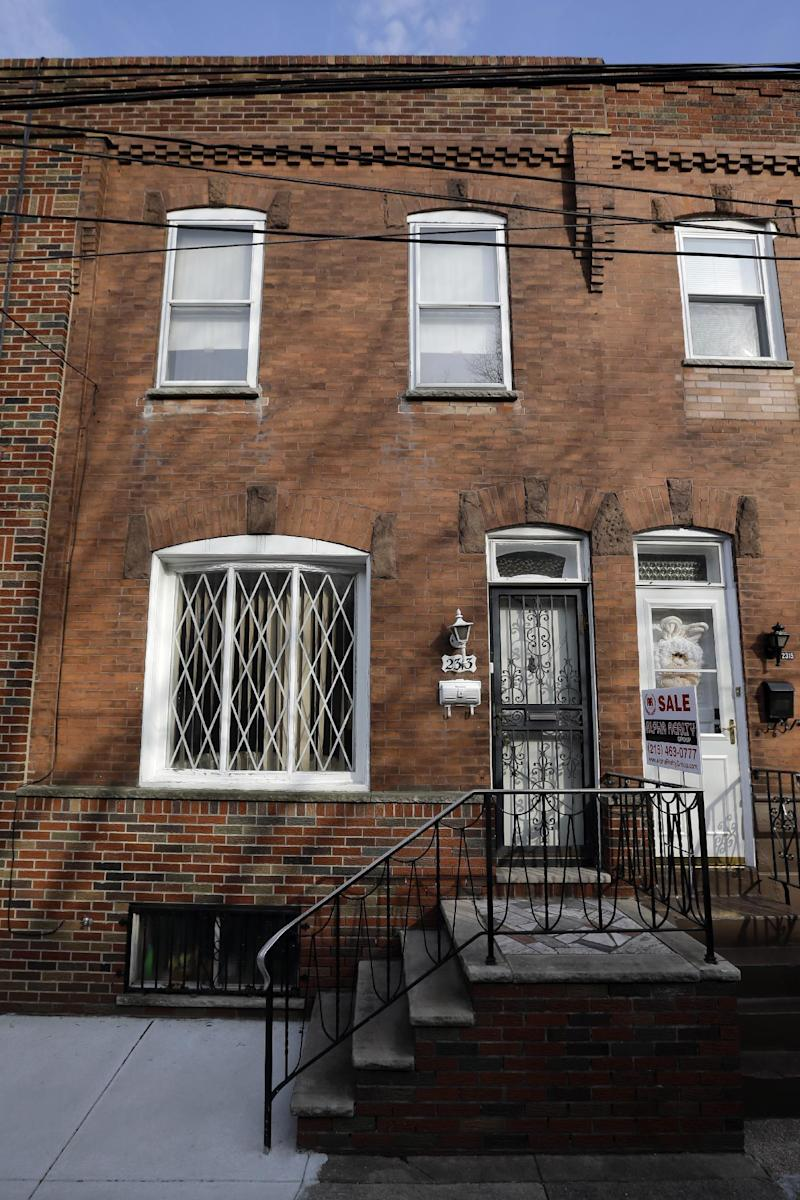 """This photo shows the South Philadelphia home featured in the 1979 movie """"Rocky II,"""", Friday, March 15, 2013, in Philadelphia. Want to live like Rocky Balboa? The Italian Stallion's house is on the market. The home in South Philadelphia was featured in the 1979 movie """"Rocky II."""" In the sequel to the Oscar-winning smash, the fictional boxer played by Sylvester Stallone buys the house after he loses a bout to Apollo Creed but gains fame. (AP Photo/Matt Slocum)"""